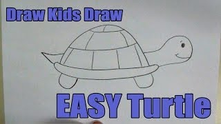 How To Draw: EASY Turtle
