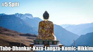 Ep5 | Day6-Tabo-Dhankar-Kaza-Langza-Komic-Hikkim | Ride to Spiti Valley