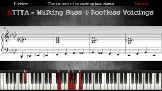 All The Things You Are - Walking Bass + Chords │Jazz Piano Lessons #6