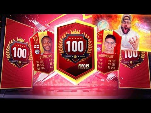 YES! I GOT INSANE REWARDS!! TOP 100 REWARDS! FIFA 19 Ultimate team RTG