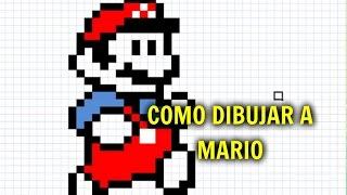 Como Dibujar A Mario Bros En Cuaderno Cuadriculado 123vid