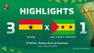 Qualif. CAN 2021   Groupe C : Ghana 3-1  Sao Tomé-et-Principe