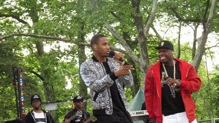 "Trey Songz Performing ""Smoke"" with 50 Cent in NYC (GMA)"