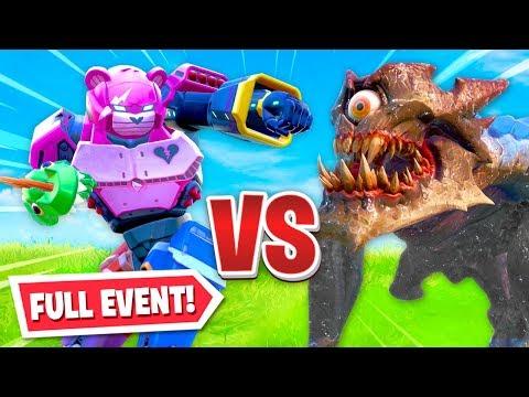 robot stream monster live event in fornite! (insane)