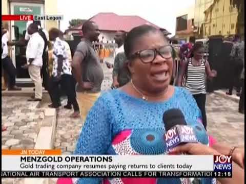 Menzgold Operations - Joy News Today (28-9-18)