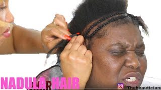 💄WEDDING MAKEUP  AND HAIR TRANSFORMATION| FLAWLESS MAKEUP| NADULA HAIR|BLACK BEAUTY BRIDE