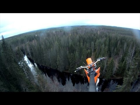 Daredevil Jumps Off His Flying Motorcycle And Parachutes Into A River