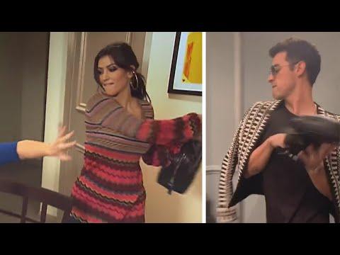 Kim Kardashian Reacts to Jonas Brothers Recreating ICONIC KUWTK Fight Scene