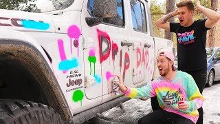 SPRAY PAINTING MY FRIENDS CAR! *EXTREME DARE*