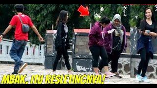 MBAK ITU RESLETINGNYA! Epic Reaction.. Part2   Prank Indonesia