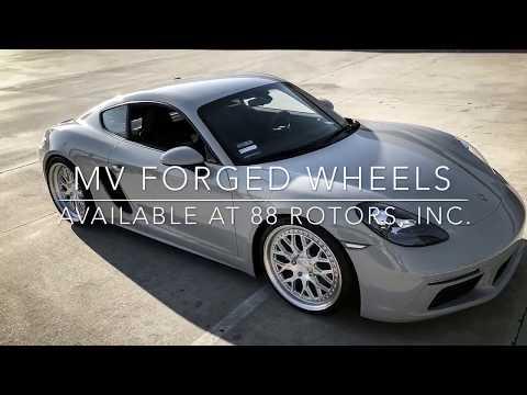 "Porsche 718 Cayman on 20"" MV Forged MV10 Wheels Michelin Pilot Sport 4S"