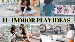 11- INDOOR Play & Activity Ideas (ZERO COST) for 2-4 Years Old