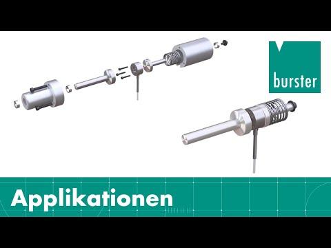 Einbaubeispiel Kraftsensor - vorgespannt mit extremem Überlastschutz und maximaler Messgenauigkeit