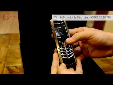 Vertu Signature S Stainless Steel New 100% tại cuong.vn