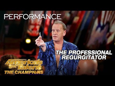 The Professional Regurgitator: Man Swallows Razor, Makes Magic - America's Got Talent: The Champions