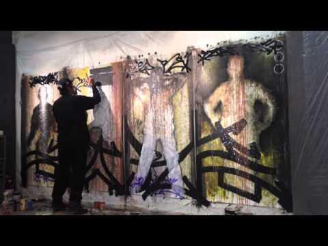 The Making of Gomez / Gonzalez Art Collaboration (Time Lapse)