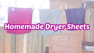 Easy Homemade Dryer Sheets - Only Two Materials!