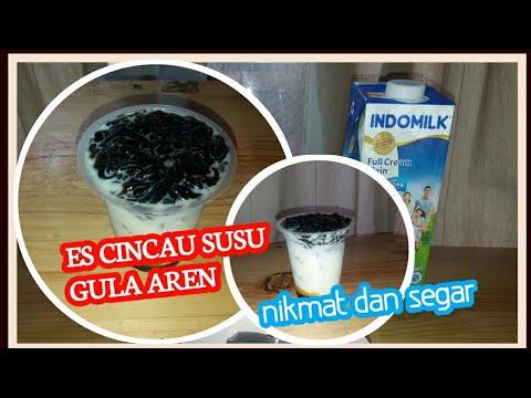 Cara membuat es cingcau gula aren,nikmat dan segarrr!!