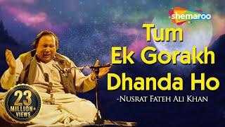 Tum Ek Gorakh Dhanda Ho with Lyrics - Nusrat Fateh Ali