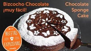 Bizcocho de chocolate - Muy fácil - Para cualquier ocasión - Recetas Explosivas