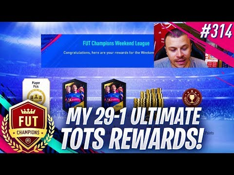 FIFA 19 MY 29-1 ULTIMATE TOTS FUT CHAMPIONS REWARDS! OMG WE PACKED AN INSANE TOTS!