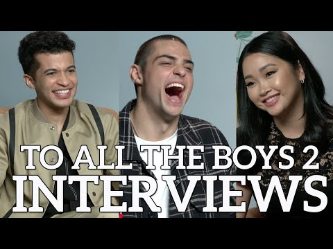 Noah Centineo, Lana Condor, Jordan Fisher and Jenny Han - TO ALL THE BOYS 2: INTERVIEWS: