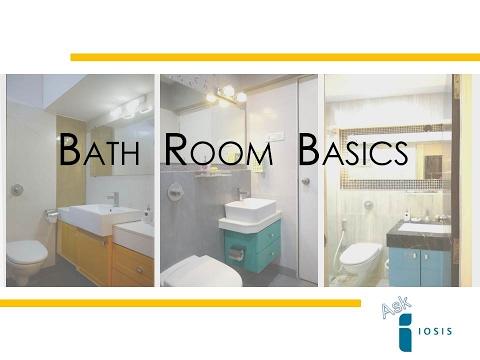 INTERIOR DESIGN l Small bathroom design India l BATH ROOM BASICS l Ask Iosis