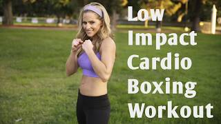 19 Minute Low Impact Beginner Cardio Boxing Workout for Fat Loss and Calorie Burn by BodyFit By Amy