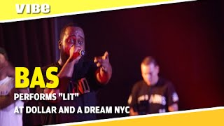 """Bas Performs """"Lit"""" With A Fan At Dollar And A Dream NYC"""