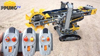 LEGO Technic 42055 RC Motorized Bucket Wheel Excavator(Full RC MOD) & building instructions by 뿡대디
