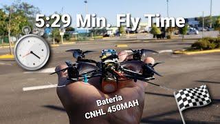 5:29 Min. Fly Time, Battery CNHL 450mah #fpv #tinyhawk