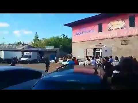 Массовая драка на рынке Нижнего Новгорода