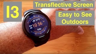 BAKEEY I3 Large Transflective Screen 1GB/16GB Android 5.1 Smartwatch: Unboxing and 1st Look