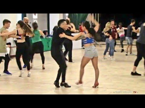 """Johnny Vazquez """"El Principe De La Salsa"""" y Emy Codebò : LA Style Salsa On1 : Workshop @ All in Dance"""