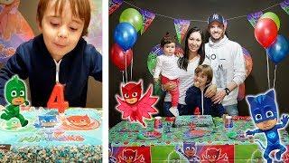 ANIVERSÁRIO DE 4 ANOS DO MARCOS!! 🎉 Festa do PJ Masks 🎁 Parabéns Marcos!