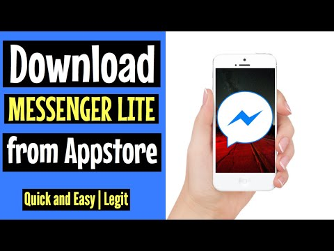 How to download MESSENGER LITE on Appstore | FREE and EASY 2018 | for Iphone