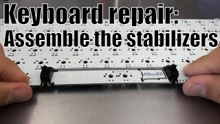 How to assemble a mechanical keyboard stabilizer (simple)