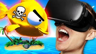 Eating DEADLY POISON FISH To SURVIVE ON VR ISLAND (Funny Island Time VR Gameplay)