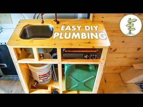 Cheap & Easy DIY Camper Van Plumbing System – Van Life