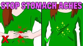 How to stop  stomach ache pain naturally and fast