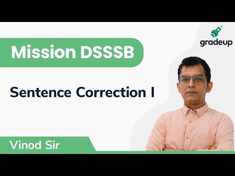 Sentence correction for DSSSB | English Language & Comprehension | Part 1 | Gradeup
