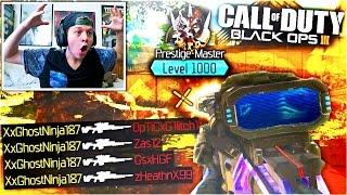"UNLOCKING ""LEVEL 1000"" BLACK OPS 3 GAMEPLAY Max Prestige in Call of Duty BO3 Multiplayer Dark Matter"