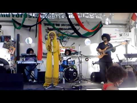 """Fragrance of YAH singing """"Didn""""t Cha Know"""" with The Beautiful Music Band at Juneteenth 2014"""
