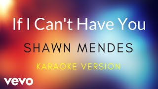 Shawn Mendes   If I Can't Have You (Karaoke Version)