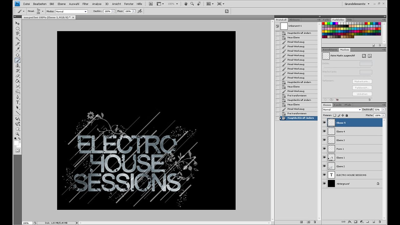 CD-Cover im Electro-House-Style (1/2) – Photoshop-Tutorial