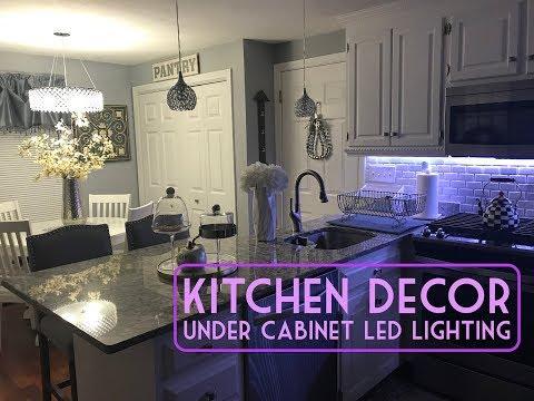 KITCHEN HOME DECOR / UNDER-CABINET LED LIGHTING WALKTHROUGH