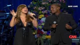 Mariah Carey sings 'I'll be there'