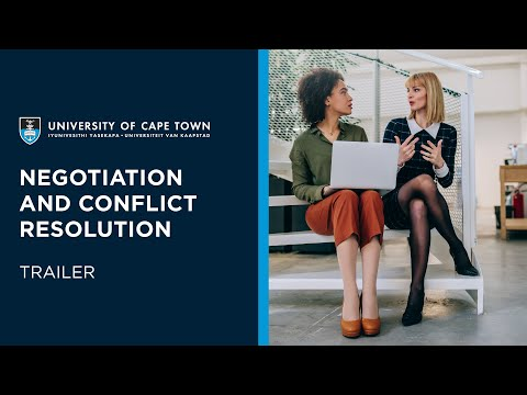 UCT Negotiation and Conflict Resolution Online Short Course | Trailer
