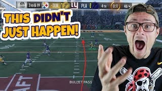 BACK AND FORTH MAYHEM WITH MIRACULOUS GAME WINNER!! Madden 18 RTE