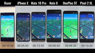 Speed Test: Razer Phone vs iPhone X vs OnePlus 5T vs Samsung Galaxy Note8 vs Google Pixel 2 XL vs Huawei Mate 10 Pro